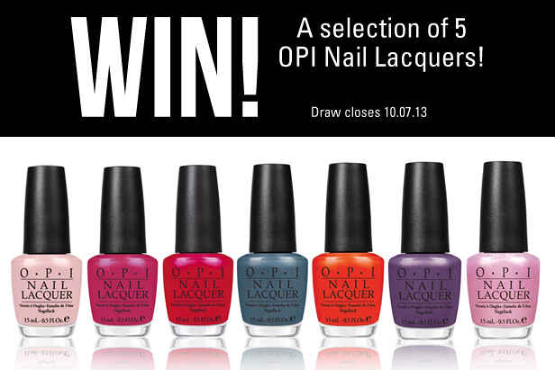 Win a Selection of 5 OPI Nail Lacquers!